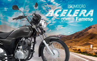 Promoção Acelera com a Famesp - Ganhe uma moto